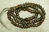 Antique irregular bicone Brass Beads from India
