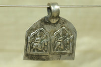 Unique Hindu Double Horse Deity Amulet from India