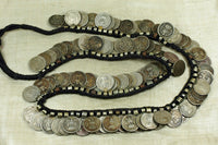 Necklace of vintage coins Indian coins