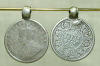 Antique Coin-Silver Rupee Coin Pendant