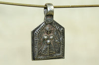 Small Antique Silver Goddess Amulet from India
