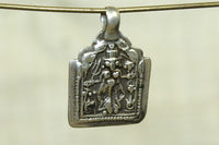 Old Silver Goddess Amulet from India