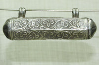 Antique Coin Silver Cylinder Pendant