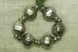 Cast Coin Silver Beads from India