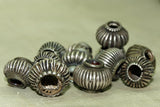 Fluted Coin Silver bead from India