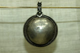 Old India Coin Silver Domed Pendant