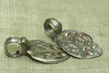 Hand Stamped Old Silver Paisley Bead from India