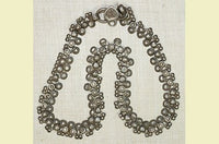 Old Coin Silver Anklet from India