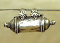 Silver Tube Pendant from India