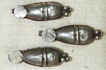"Old Coin Silver ""Torpedo"" Dangle, India"