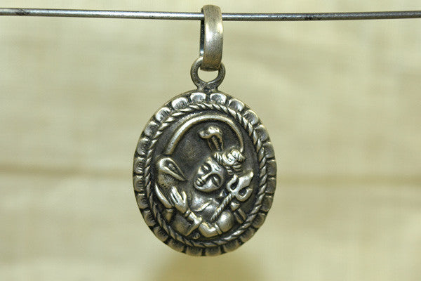 New Silver Lord Shiva amulet