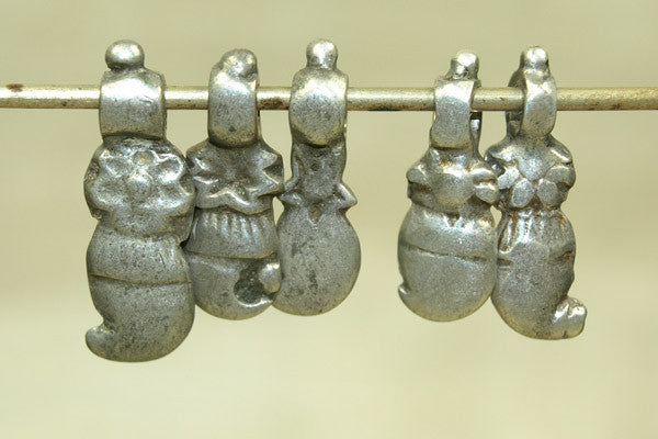 Set of Small Silver Dangles from India