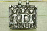 OLD COIN SILVER THREE GODS PENDANT FROM INDIA