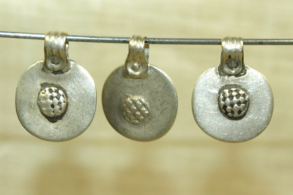 Vintage India silver Round Dangle