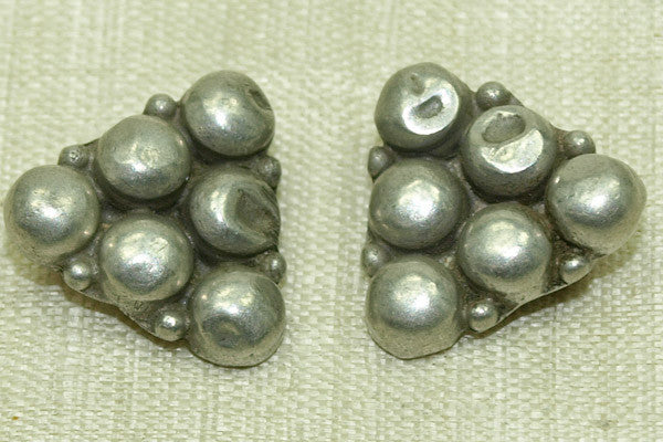 Pair of Antique silver buttons from India