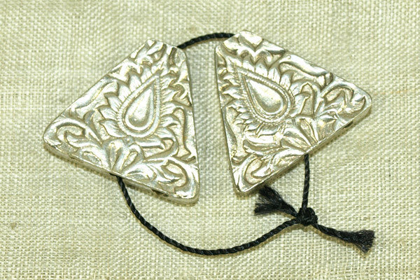 Pair of Antique silver floral Cones from India