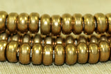 5mm Rounded Dark Brass Heishi Beads from India