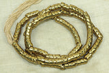 "Brass ""snake bone beads"" from India, 6.5mm"