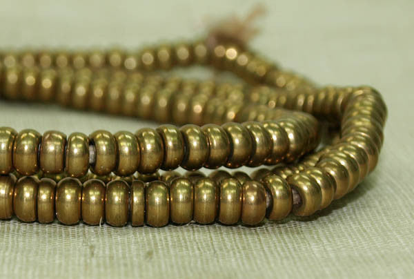 Small Donut-shaped Brass Beads from India