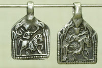 Vintage Silver Rajasthani Rider Amulets from India