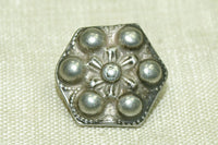 Antique Silver Button from India