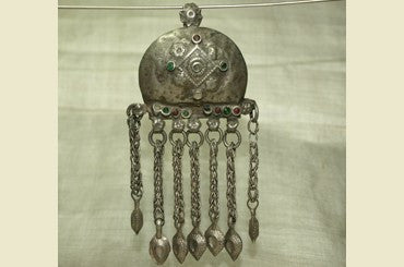 Damaged Silver Pendant from India
