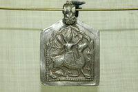 Large Old Silver Indian Bhumiya Raj Pendant