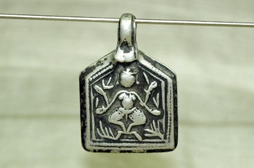 Indian Vishnu Amulet made of Old Silver