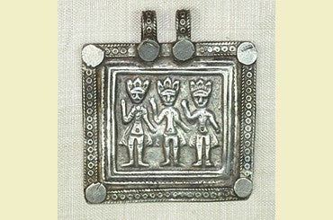 Silver Brahmanical Triad Pendant from India