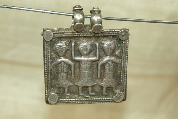 Old Silver Brahmanical Triad Pendant