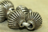 Antique Fluted Silver Beads, C