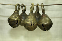 Set of five funky Nigerian Brass Bells
