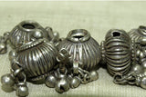 Set of Antique Fluted Silver Beads from India
