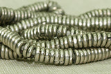 4mm Silver Heishi Beads from Kenya