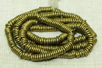 4mm Brass Heishi Beads from Kenya