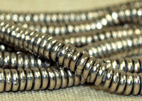 3mm Silver Tone Heishi from Kenya