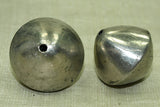 Silver Color 24mm Bicone Bead from Mali