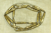 Strand of New Large Brass Needle Beads from Mali