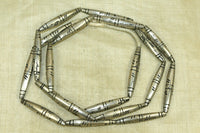 New Long Tapered Silver Beads from Mali