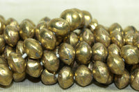 SMall Hollow Brass Saucer Beads from Mali
