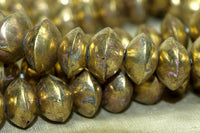 Medium Hollow Brass Saucer Beads from Mali