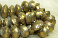 Large Hollow Brass Saucer Beads from Mali