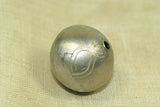 Silver Color round 17mm bead from Mali