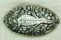 New Silver Bead From Nepal, Lizard