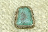 Small Bezel-set Sterling silver and Turquoise pendant from Nepal