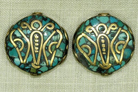 Brass & Turquoise Butterfly Bead