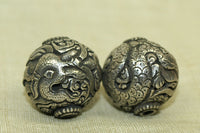 Small Sterling Silver dragon Bead from Tibet