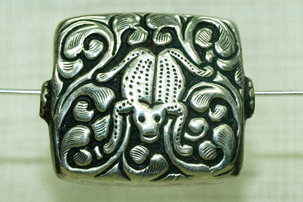 New Silver Bead From Nepal, Frog