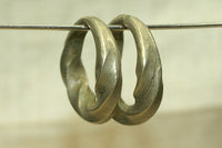 Pair of cool twisted Antique Hair Rings from Niger