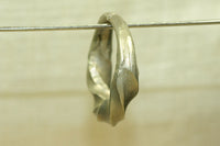 Antique Silver Twisty Hair Ring from Niger